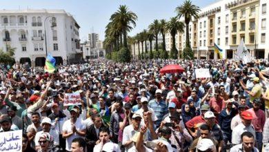 Demo in Rabat